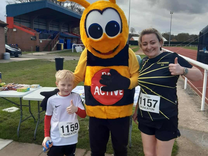 Finishers with Bee